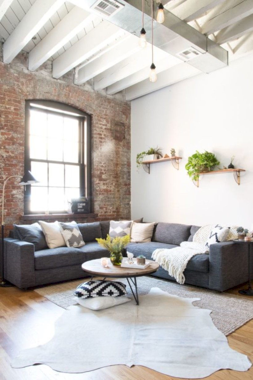 Living room boho style