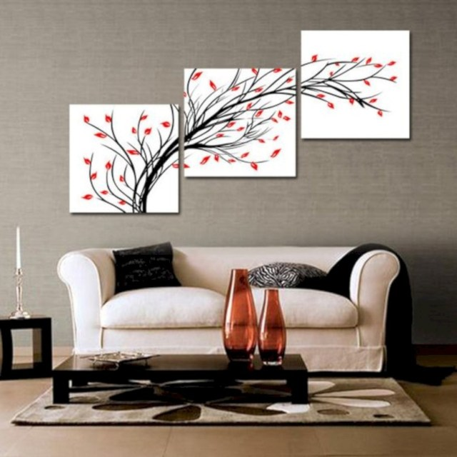 Living room love art work with colors