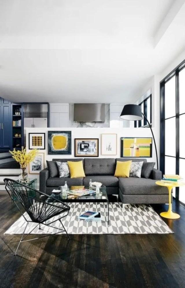 Living room scandinavian style