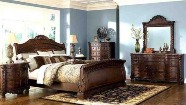 Luxury furniture king size hand carved wooden bed frames
