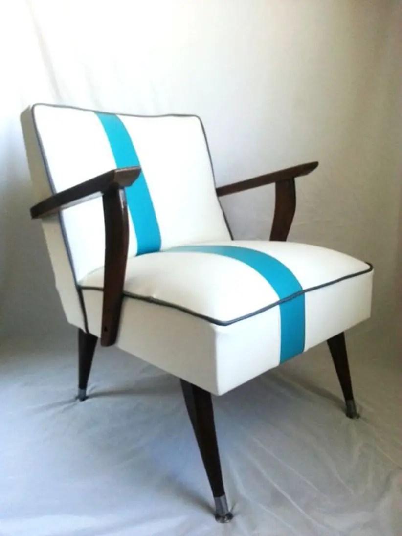 Mid century modern chair white
