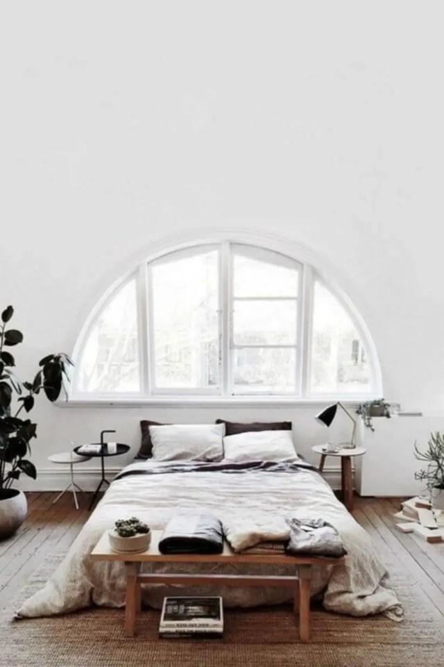 Modern rustic scandinavian bedroom decor