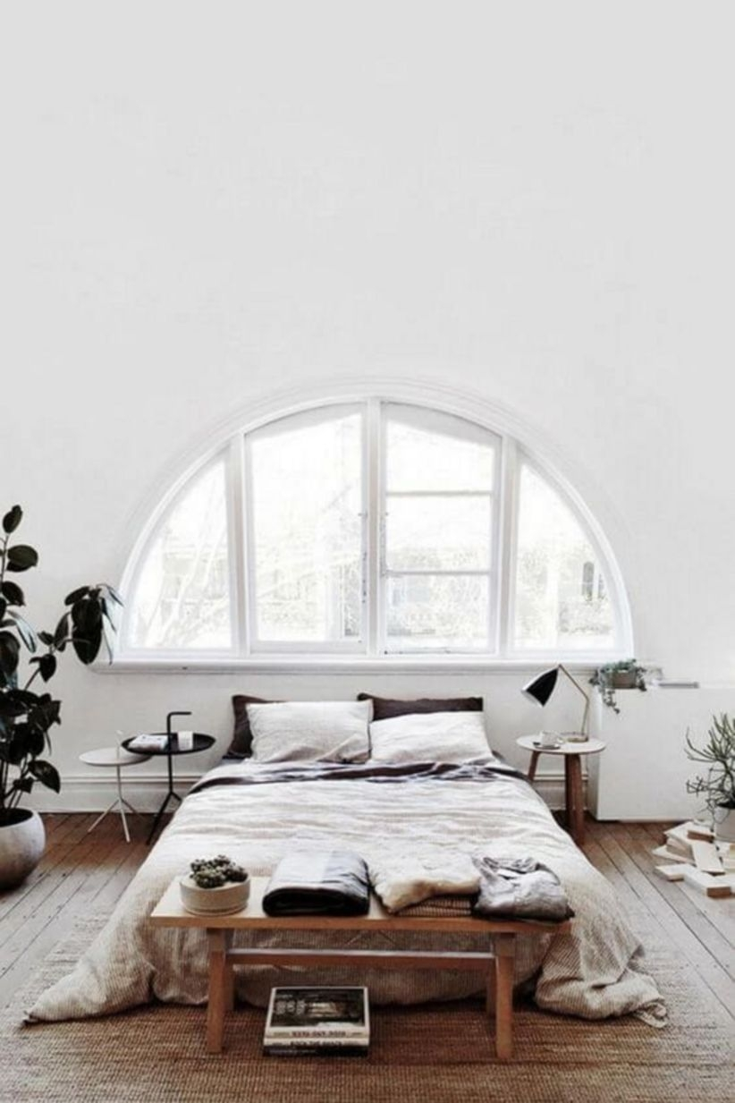 Modern rustic scandinavian bedroom decor