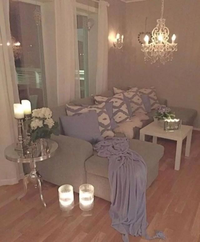 Modern scandinavian living room design with lighting