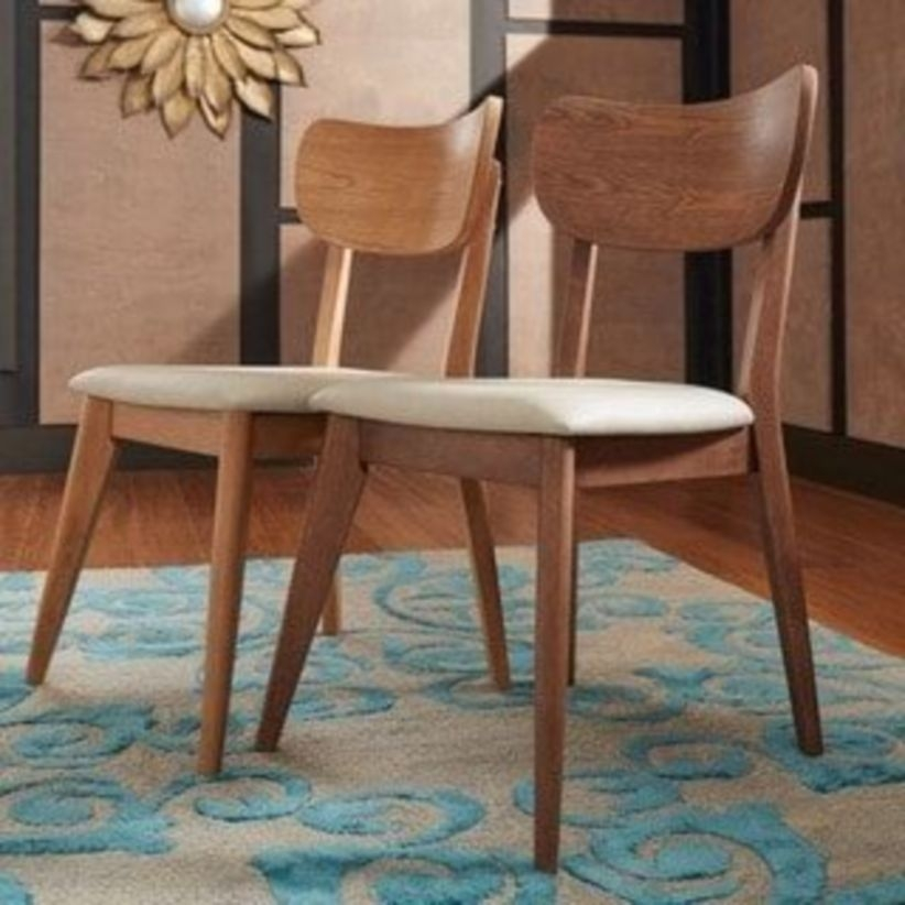 Penelope danish modern tapered-leg dining chair