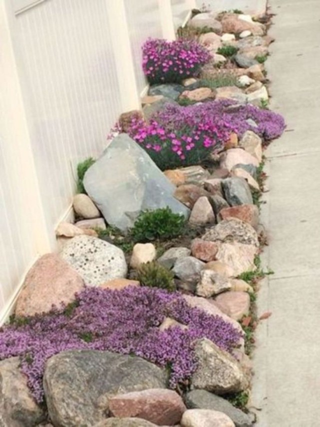 Rock edging ideas for borderline garden