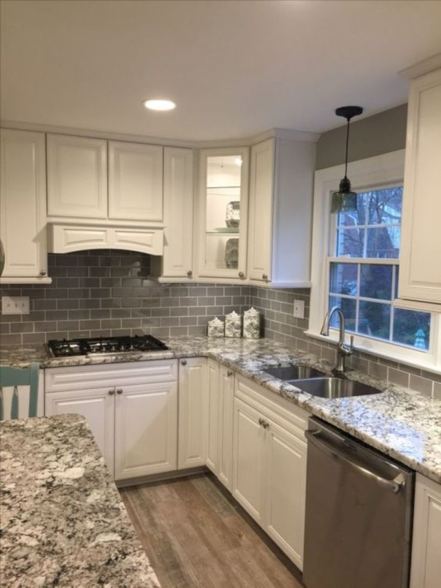 Subway tile backsplash kitchen