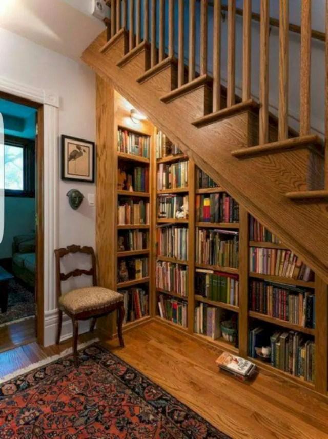Understairs bookshelf