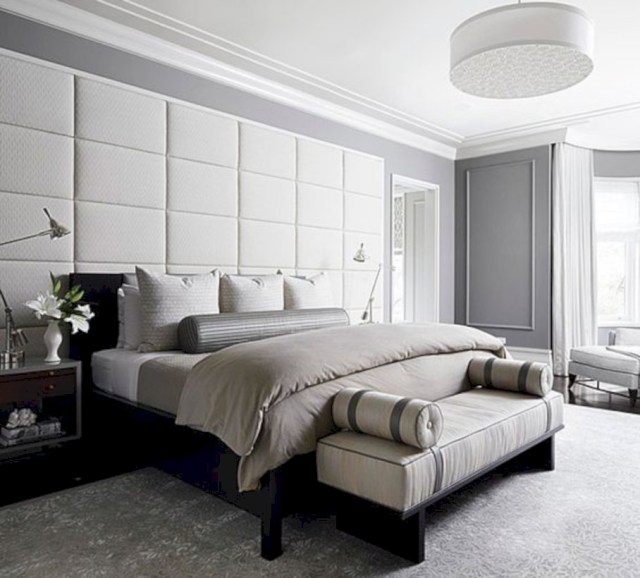 Upholstered wall bedroom