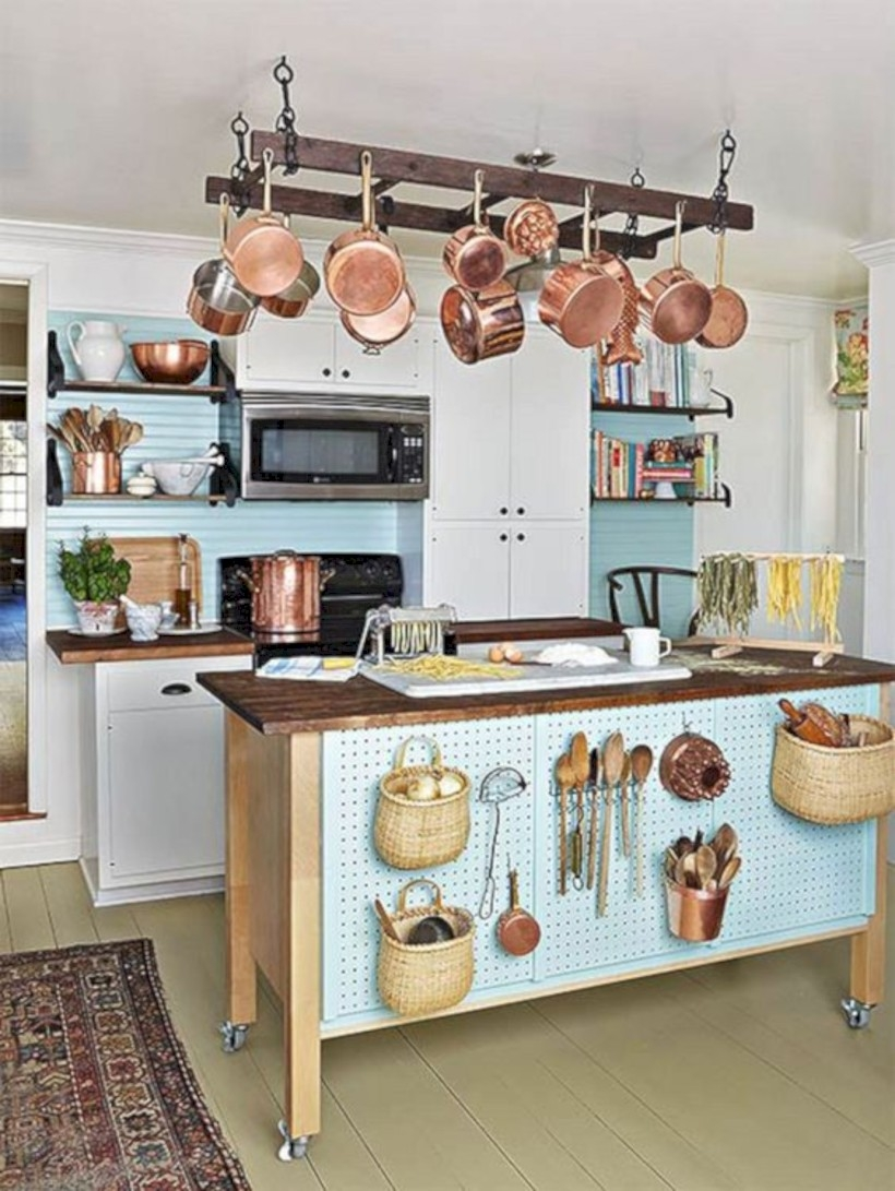 Use pegboards in the kitchen
