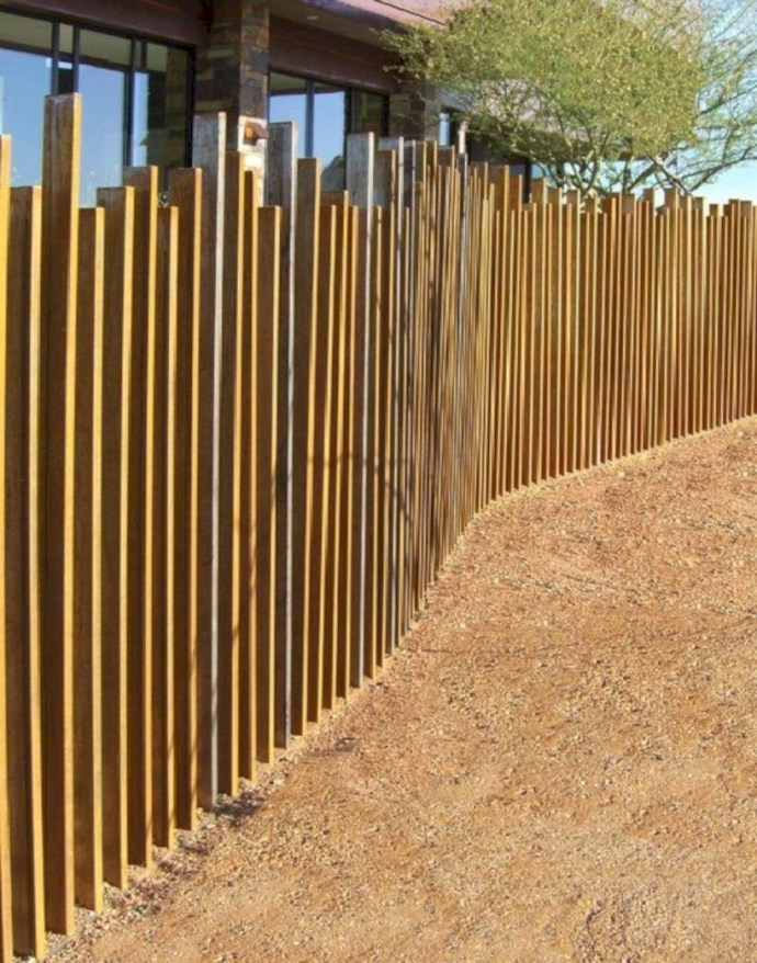 Wooden fence for backyard