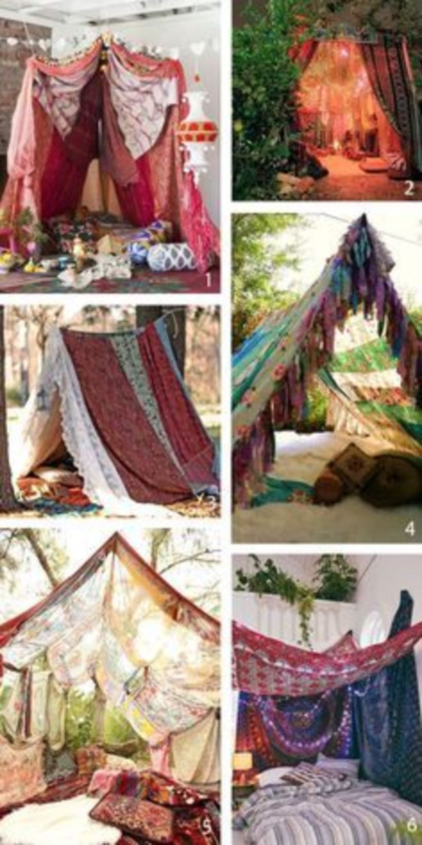 Pretty bohemian tents for bohemian party