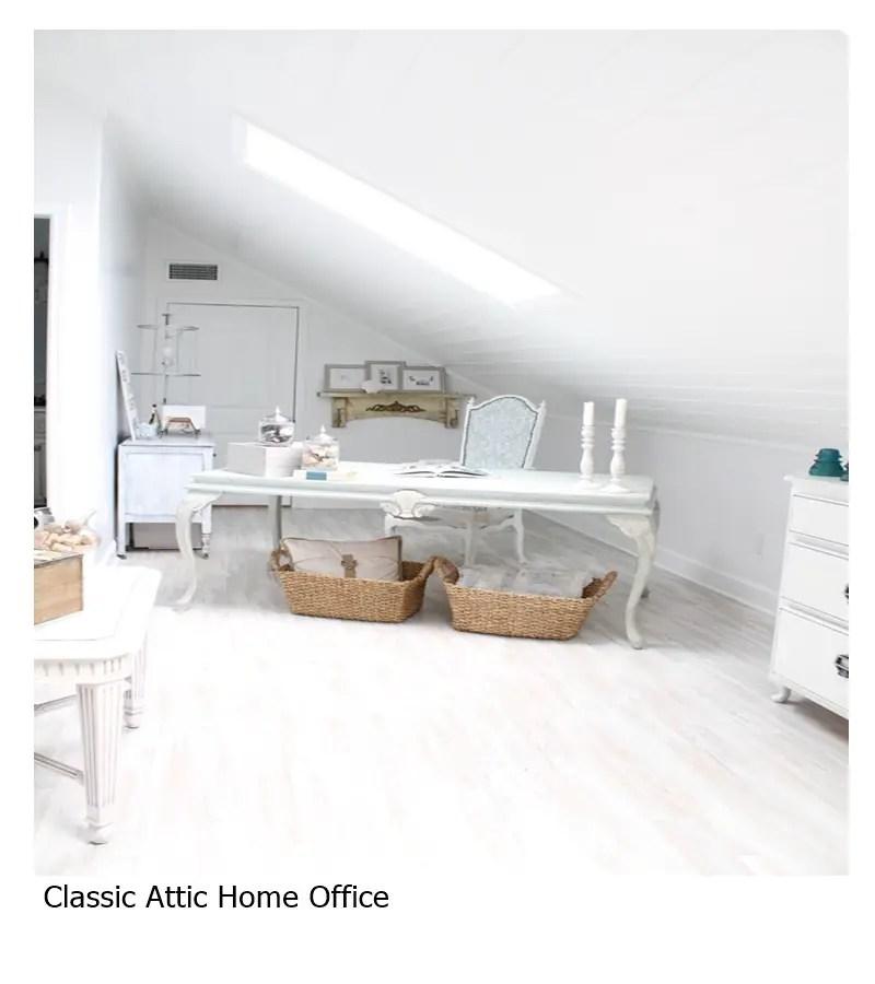 Classic attic home office