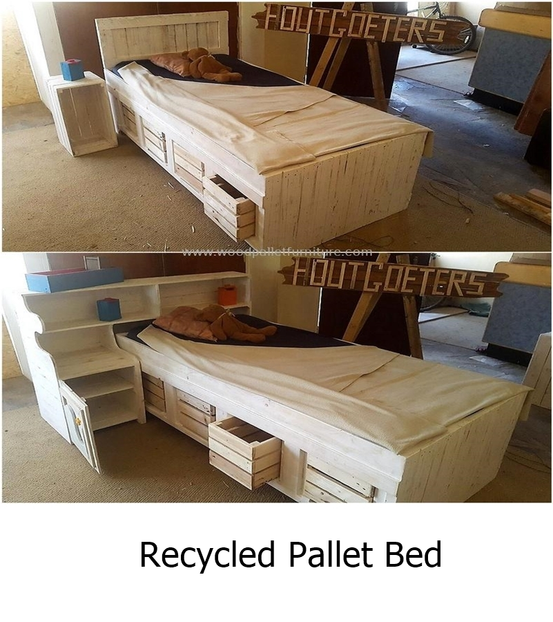 Recycled pallet bed 1