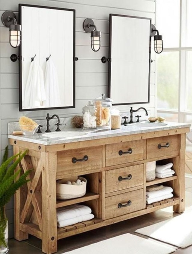 Rustic bathroom vanities 6