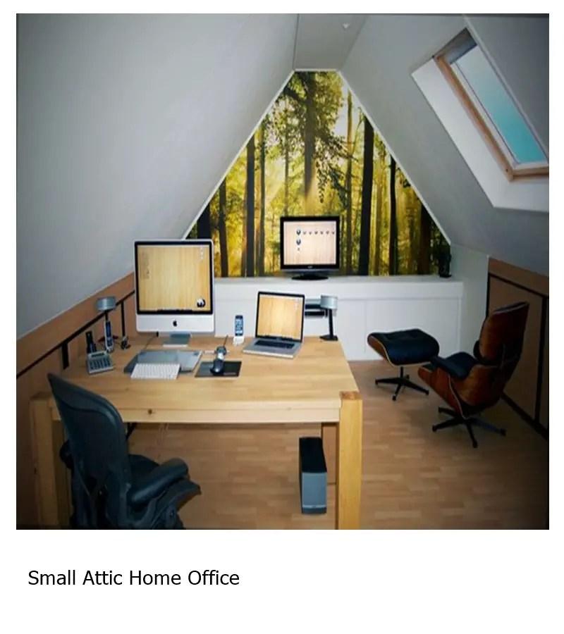 Small attic home office