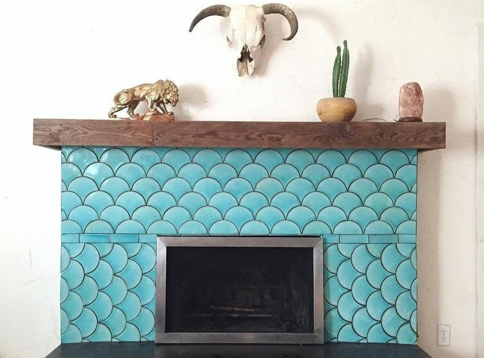 Tiled fireplace design ideas 2