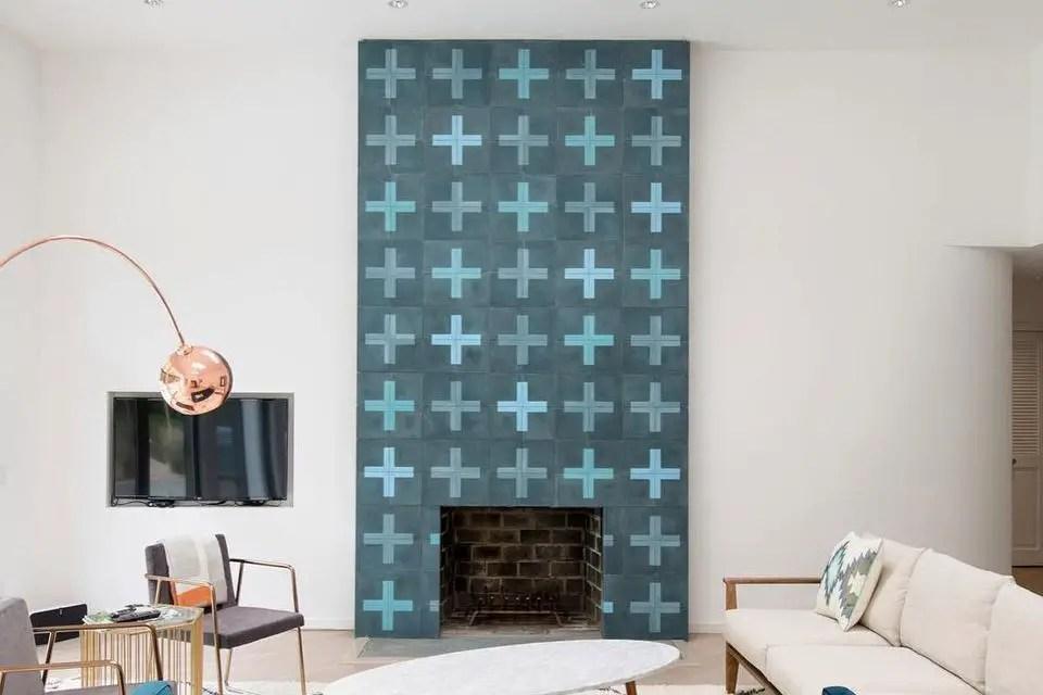 Tiled fireplace design ideas 7