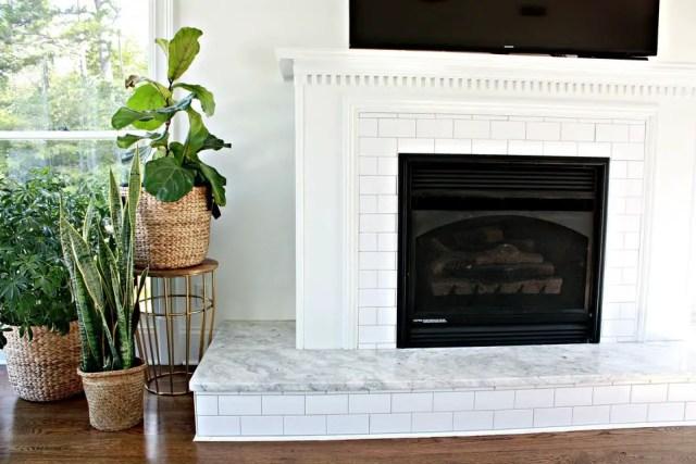 Tiled fireplace design ideas 8