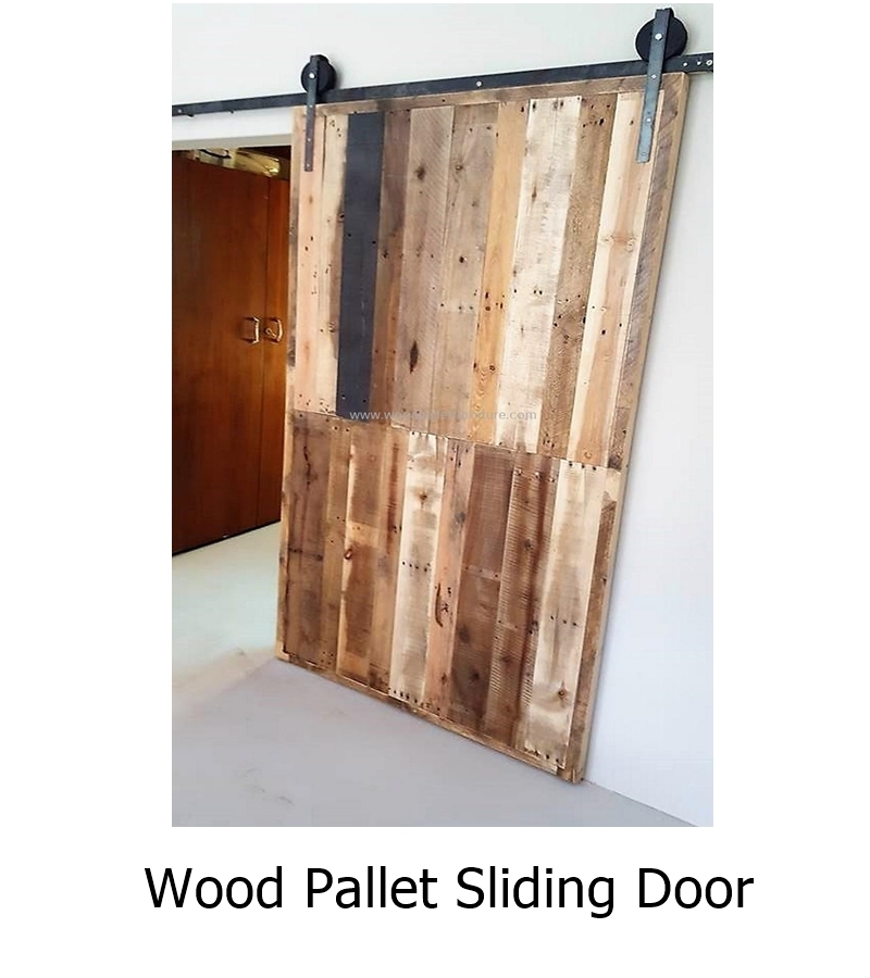 Wood pallet sliding door 1