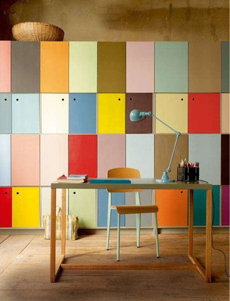 Colorful home office design ideas to brighten up your mood 10