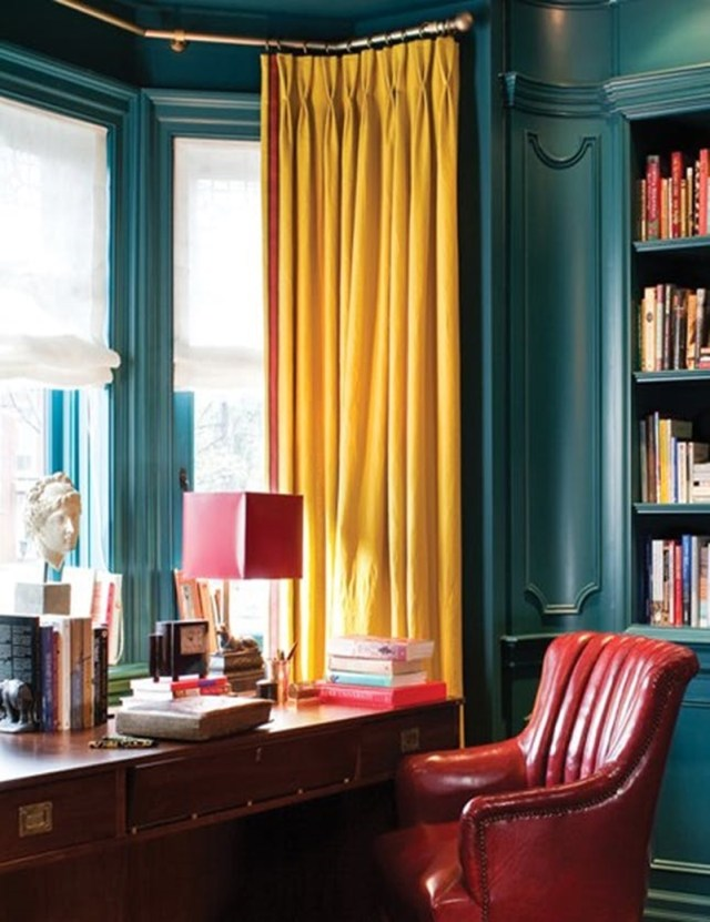 Colorful home office design ideas to brighten up your mood 7