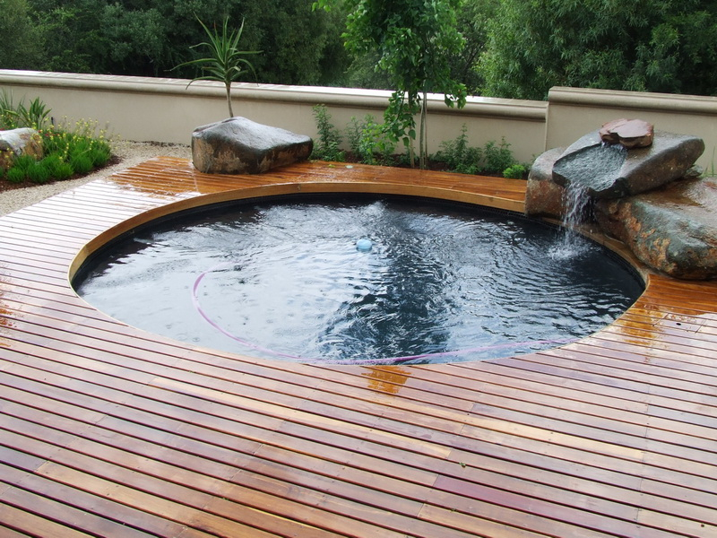 1. wooden pool