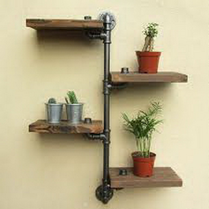 5. nice wood shelves