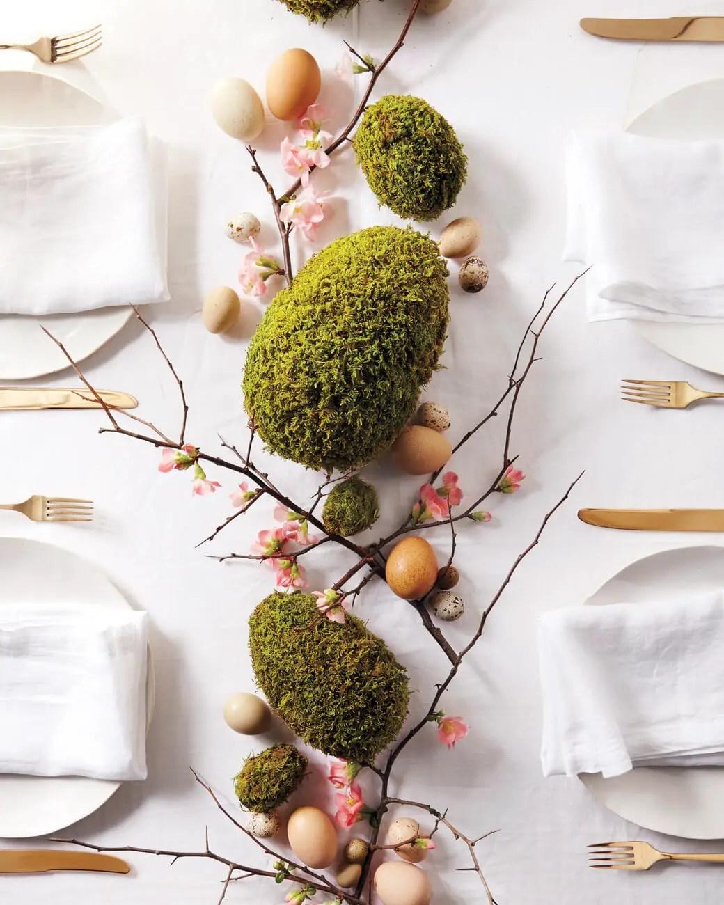A mossy path egg arrangement