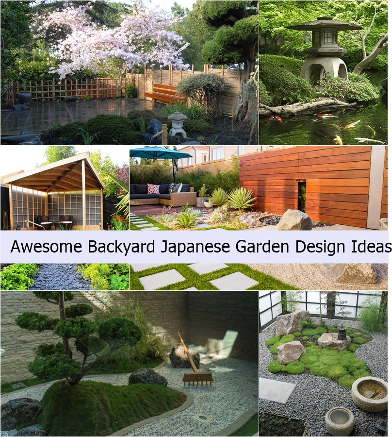 18 Relaxing Japanese Inspired Front Yard Décor Ideas: Awesome Backyard Japanese Garden Design Ideas