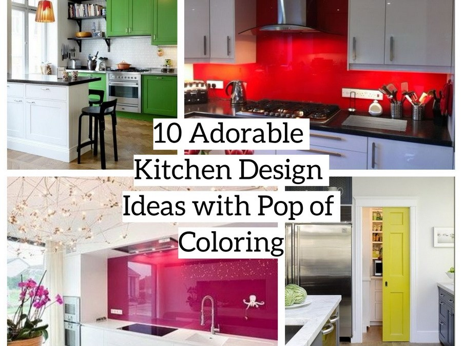 10 Adorable Kitchen Design Ideas with Pop of Color