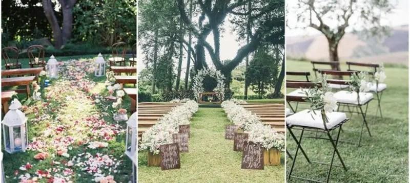 5. rustic garden wedding
