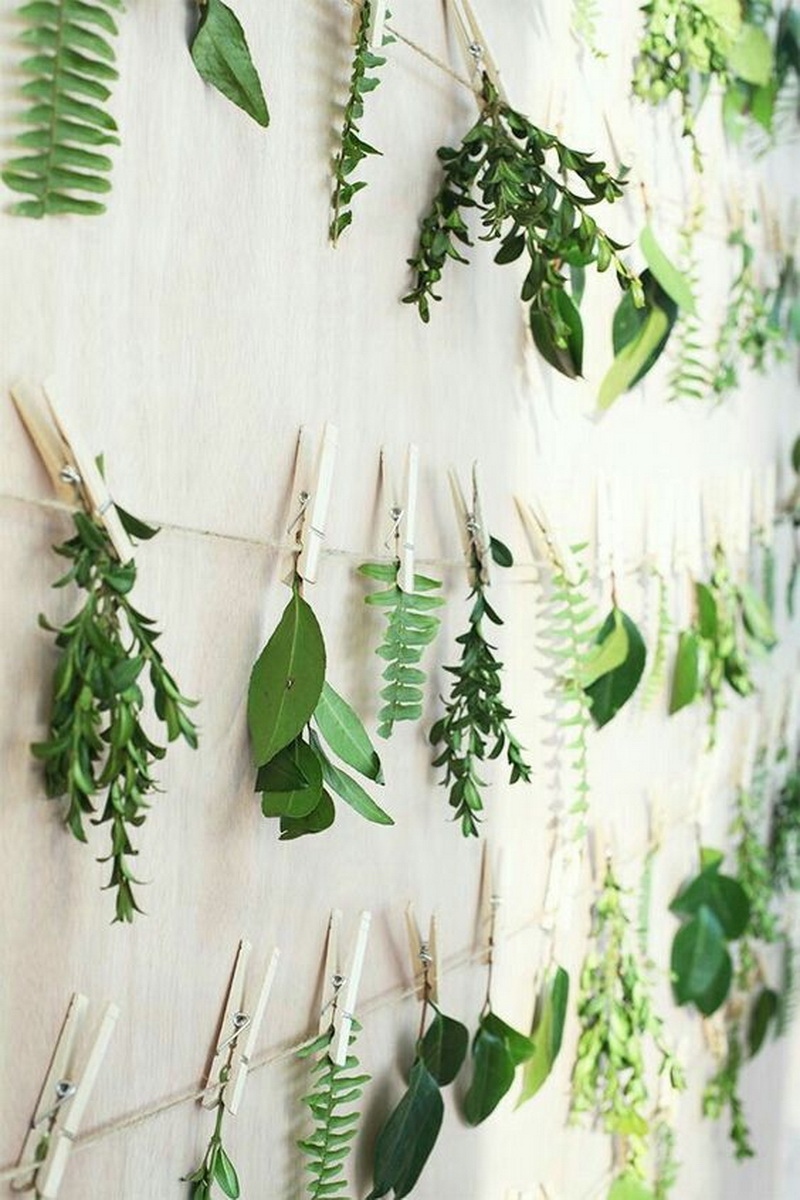 7. greenery backdrop