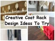 Creative coat rack design ideas to try