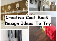 Creative coat rack design ideas to try