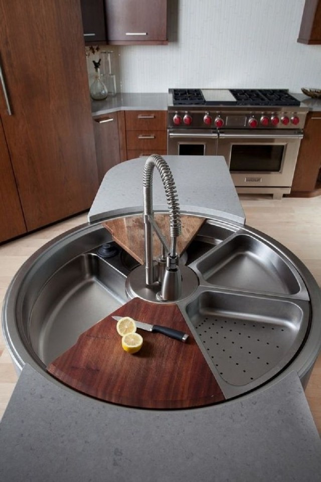Cutting board and colander