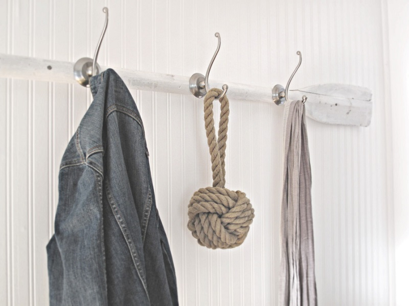 Entrance hallway coat rack