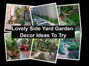 Lovely side yard garden decor ideas to try