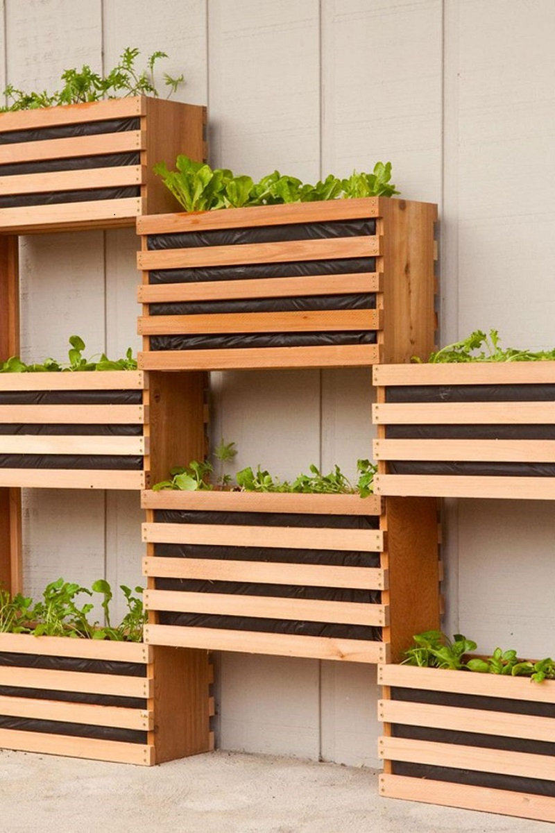 Minimalist vertical garden