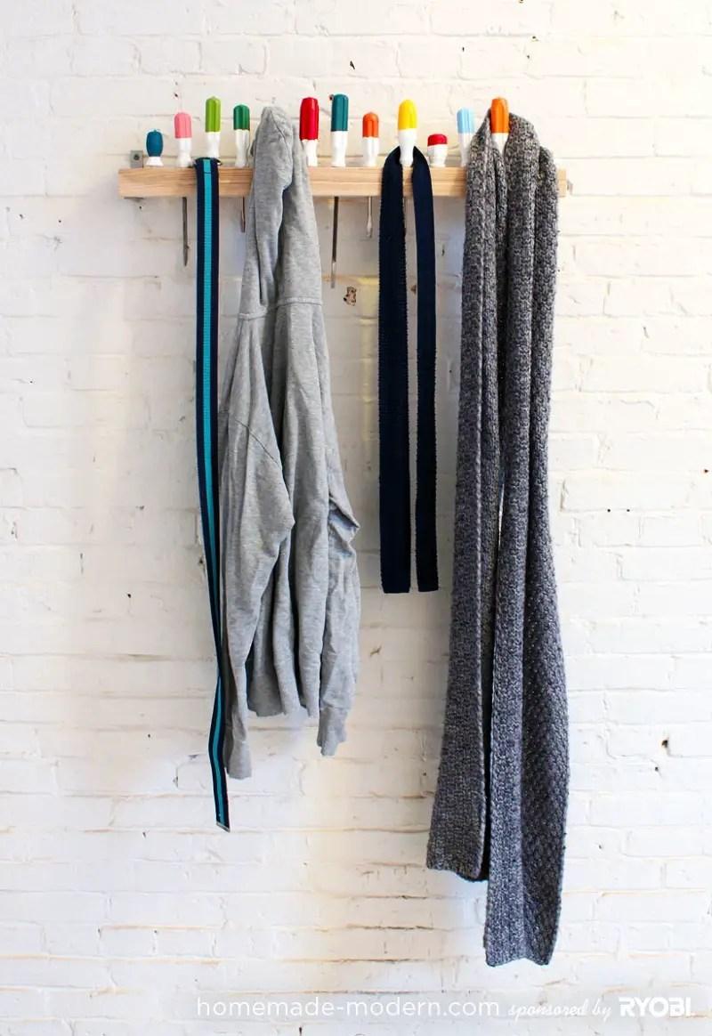 Screwdriver coat rack