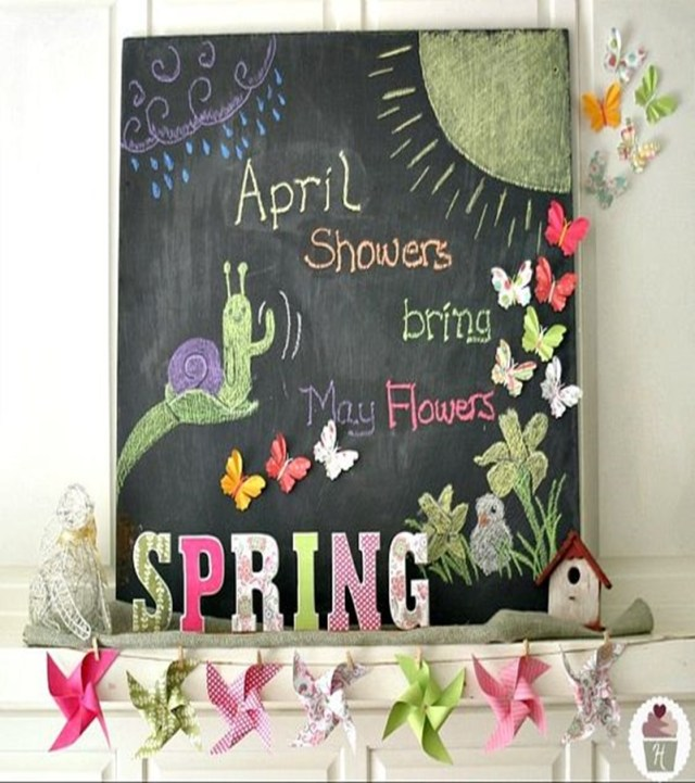 Spring mantel ideas 3