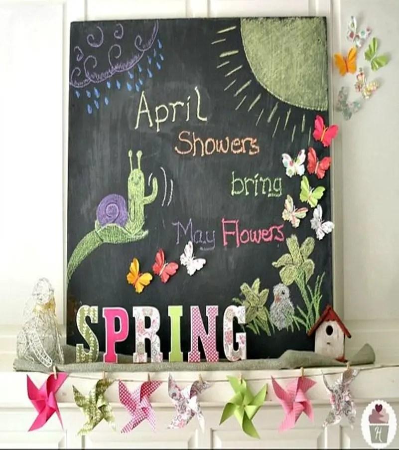 Spring mantel ideas 3