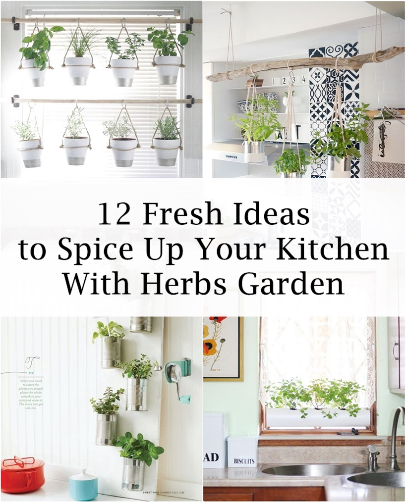 There Are Many Ideas To Decorate The Kitchen, One Of Which Is To Make A  Herb Garden. Indoor Herb Gardens Create Functional, Personal And Pleasant  Atmosphere ...