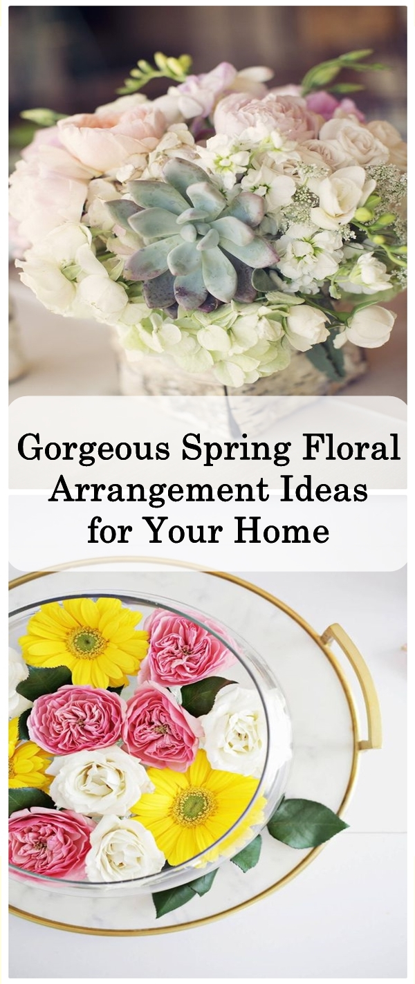 Gorgeous Spring Floral Arrangement Ideas for Your Home - Matchness.com