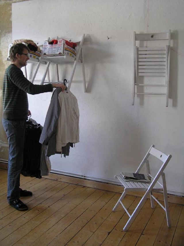 Hanging chair closet organizer