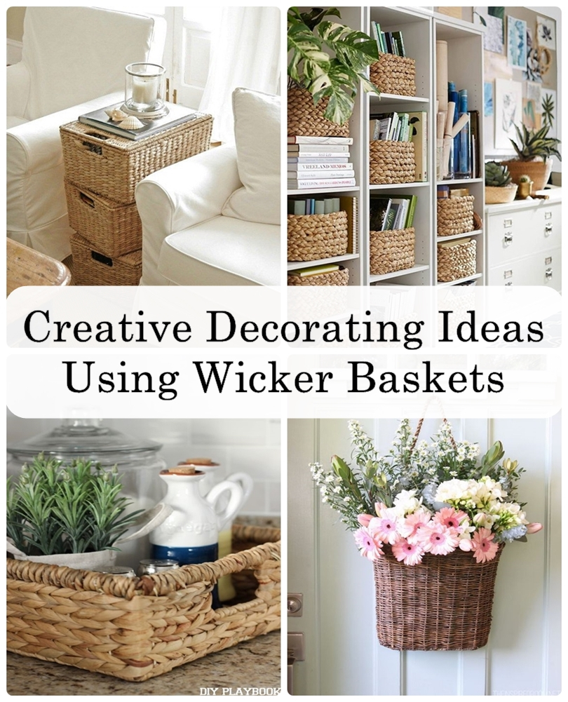 Creative Decorating Ideas Using Wicker Baskets - Matchness.com