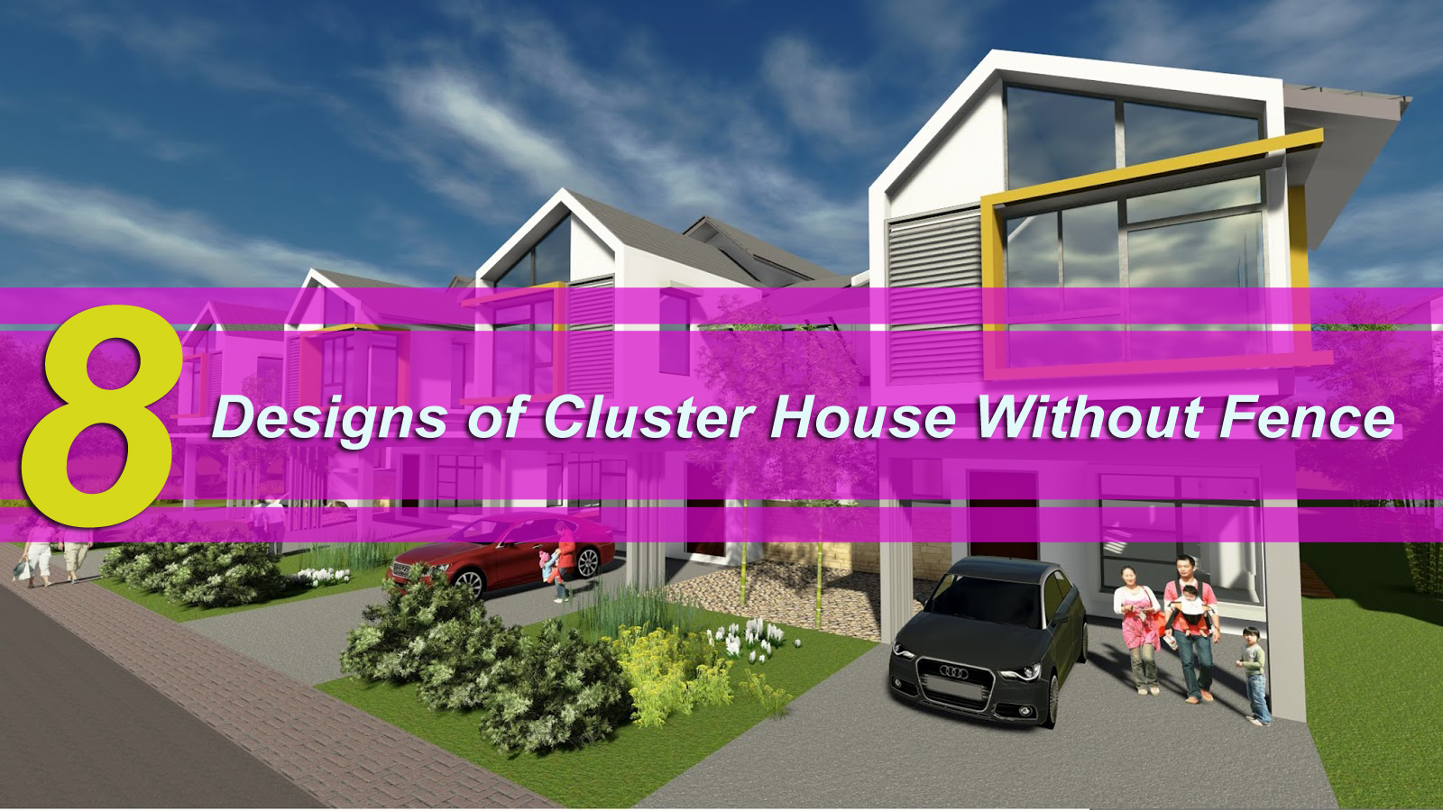 8 Designs of Cluster House Without Fence - Matchness.com
