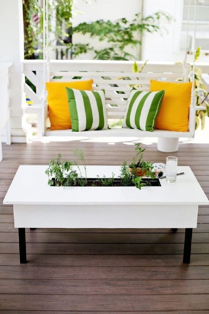 Herb garden coffee table