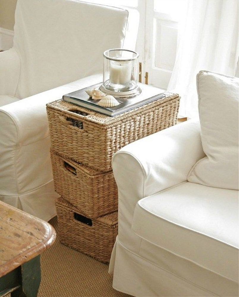 Wicker baskets decor 1