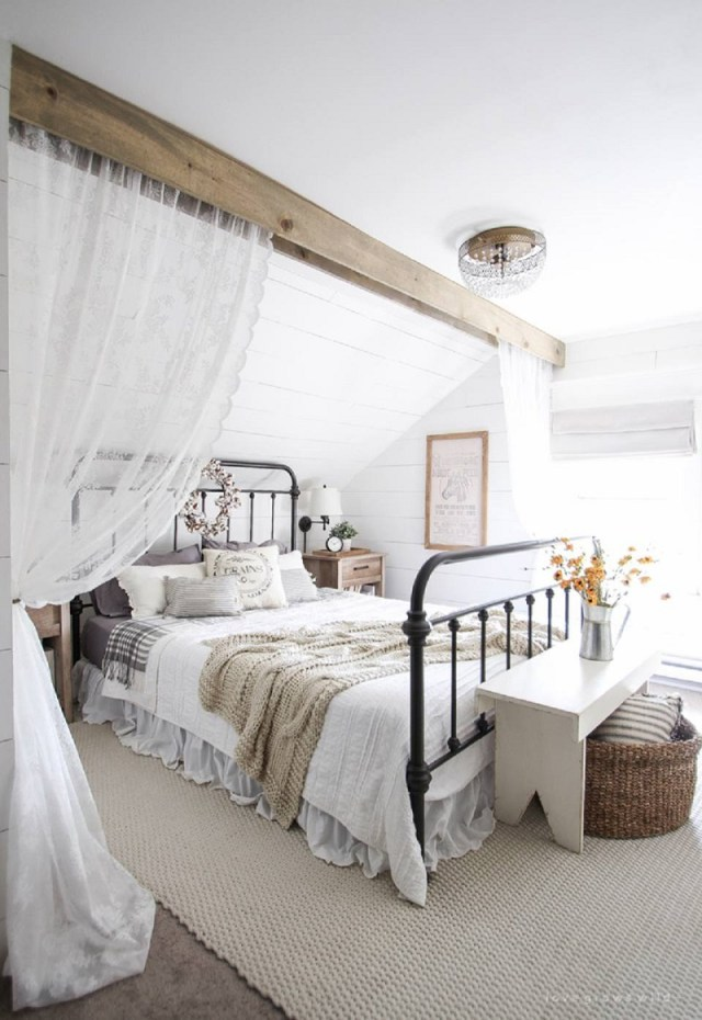 Romantic farmhouse bedroom